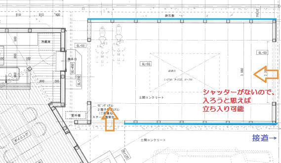 自宅卓球場の詳細図