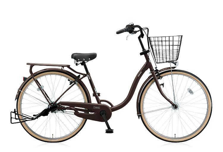 茶色の自転車