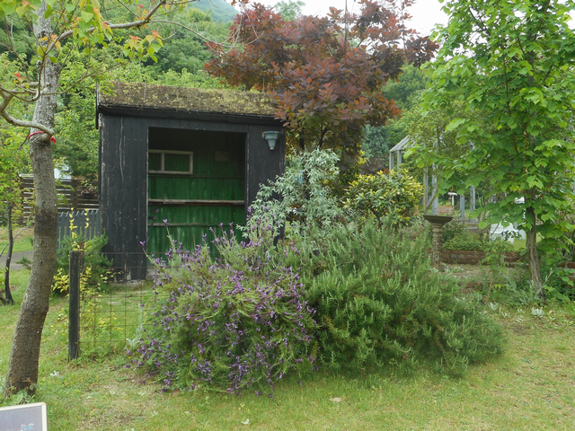 シックで落ち着いた庭の作品