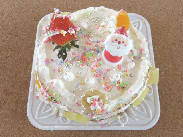 手作りクリスマスケーキの画像