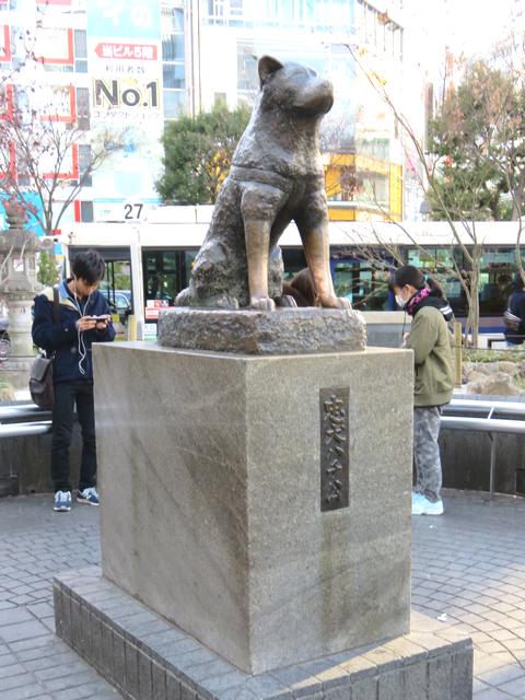 渋谷ハチ公の画像