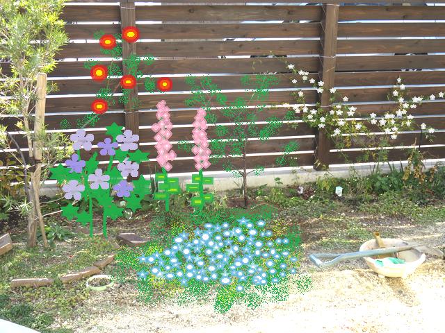 頭の中で描いている庭のイメージ