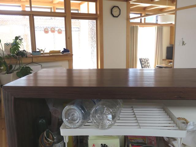 キッチン改善後のカウンター内部の画像
