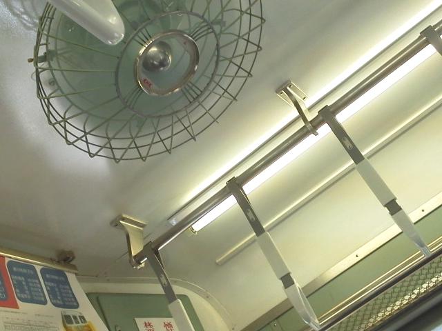 コトデン1216車輌の内部の画像