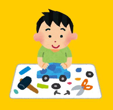 工作をする子供のイラスト