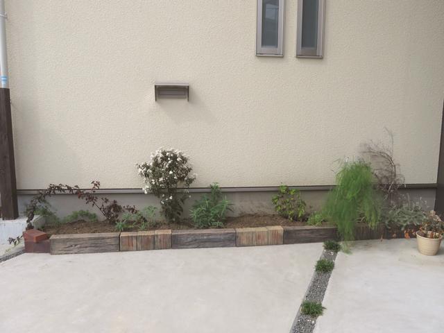 2018年10月中旬の駐車場花壇の様子