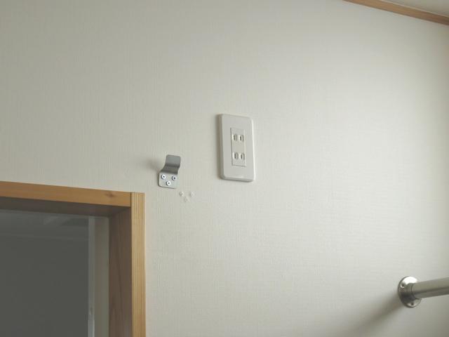 壁掛け扇風機を取り外した後
