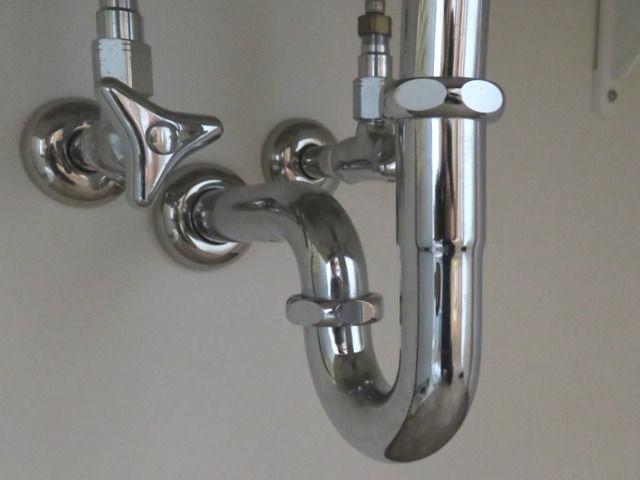 洗面台の排水管トラップの画像