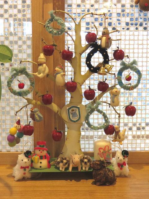 卓上のクリスマス飾り