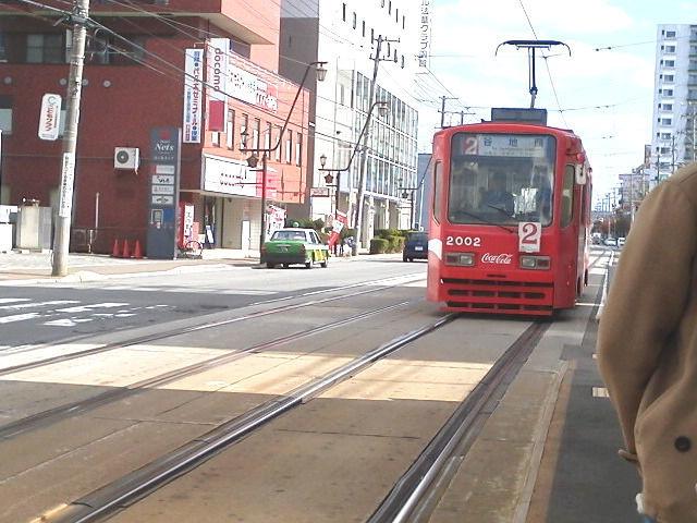 赤い函館市電