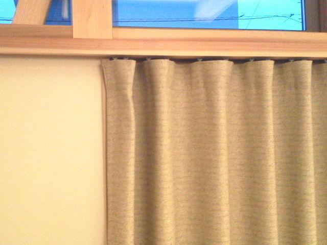 スッキリしたカーテンレール