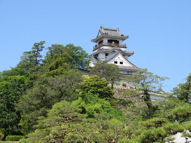 高知城の天守閣の画像
