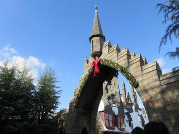 ハリーポッターエリアの入り口の画像