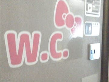 ハローキティ新幹線 Hello Kitty Shinkansen トイレドアの画像