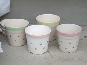 フリーマーケットでもらった陶器鉢
