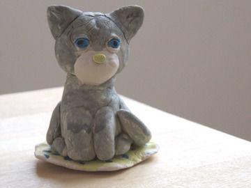 ネコの粘土細工