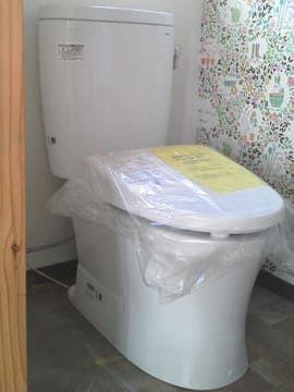 工事中のトイレ