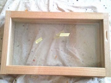 造作吊戸棚のガラス戸