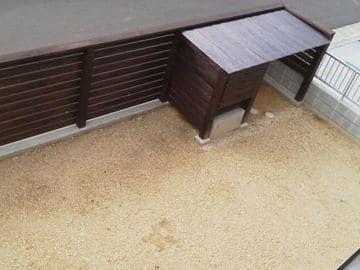 外構板塀と物置