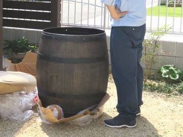 雨水タンク設置写真