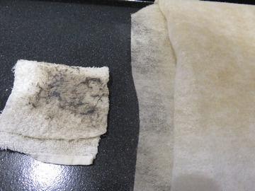 整流板の裏側の汚れ