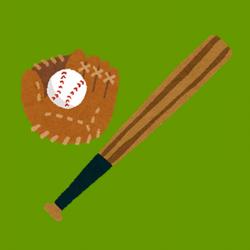野球道具のイラスト