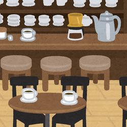 喫茶店の店内のイラスト