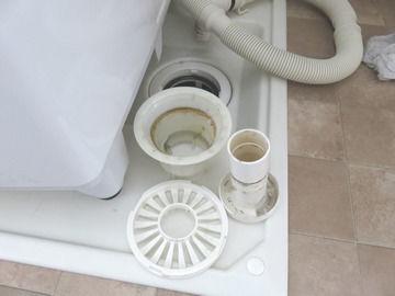 フラット防水パンの排水口部品
