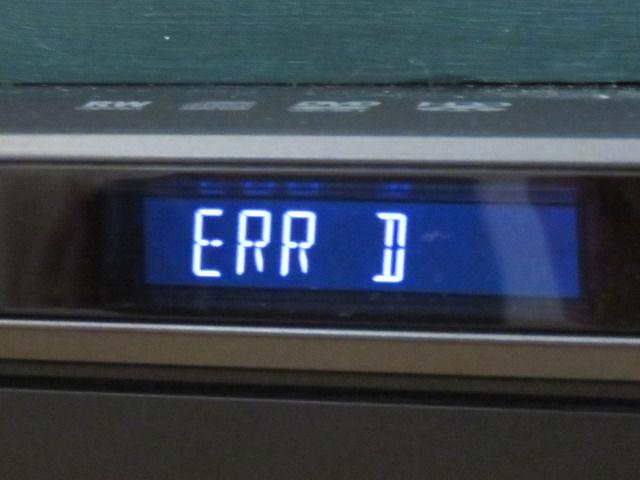 ブルーレイレコーダーのエラー表示 ERR D