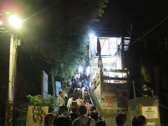 夜の九ふんの階段