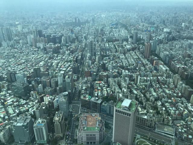 台北101展望台から見下ろした台北市内
