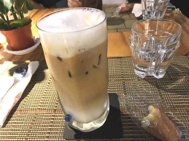 松山文創園区のカフェ LIULI CAFEのアイスオーレ