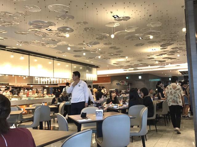 シーザーメトロ台北の朝食バイキングのレストランの様子