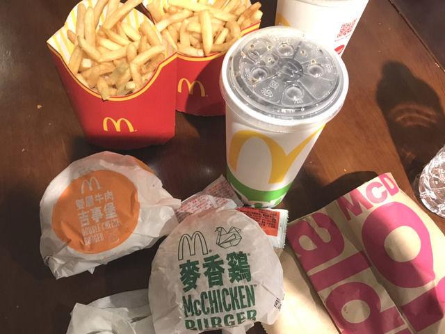 台湾のマクドナルドのバリューセット