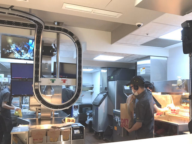 台湾のマクドナルドのお店の様子
