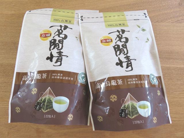 台湾リプトンのウーロン茶のティーバッグのパッケージ