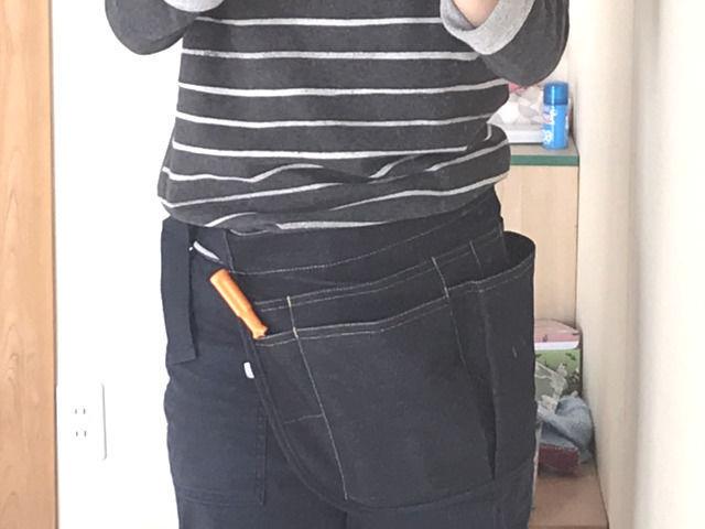 ワークマンのマルチポケットエプロンの装着