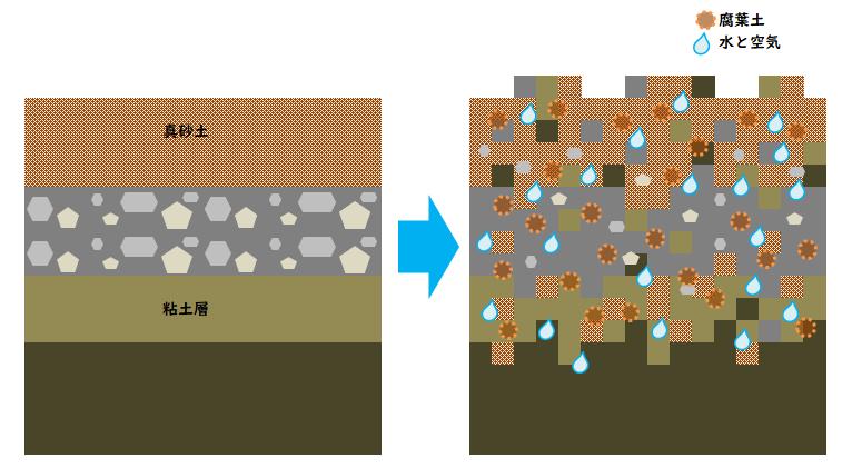 土壌改良のイメージイラスト