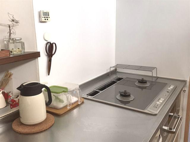 普段の状態にリセットしたキッチン