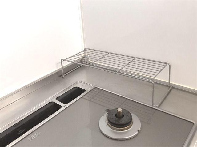 コンロ脇が定位置の鍋置き台