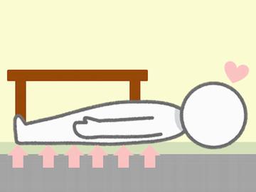 コタツに寝ている人のイラスト