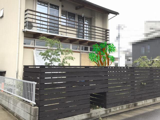 庭木を植えたイメージ 後ろ側  class=