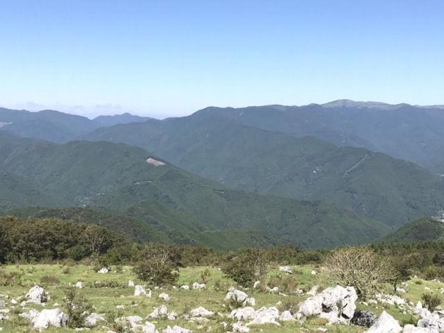 四国カルスト天狗高原の風景