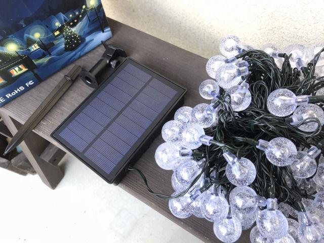 ソーラーイルミネーション設置の様子