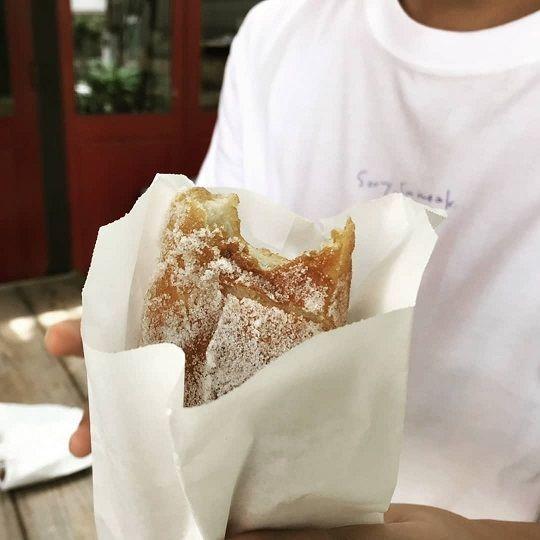 西内花月堂の揚げパン