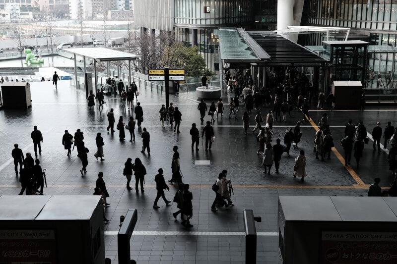 X-T3で撮影した大阪駅の画像