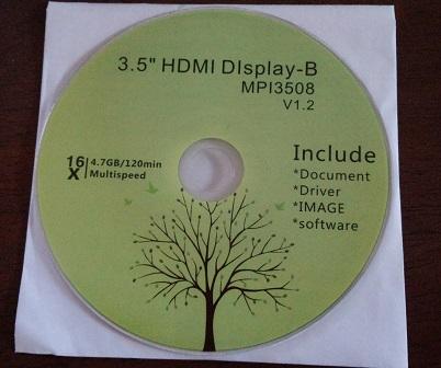 Quimat3.5インチタッチスクリーンの付属DVD