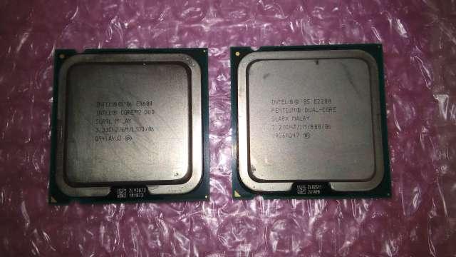 Pentium E2200とCore 2 Duo E8600の写真