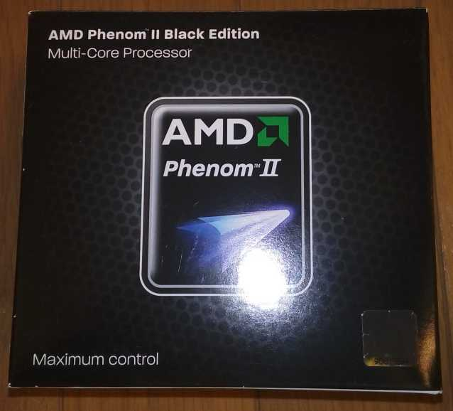 Phenom II x4 955 Black Edition の箱の写真