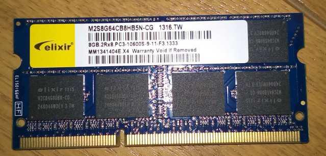 DDR3 8GBのS.O.DIMM